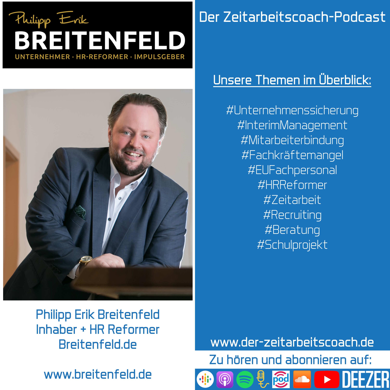 Philipp Erik Breitenfeld im Interview | Inhaber und HR Reformer von Breitenfeld.de | Der Zeitarbeitscoach-Podcast