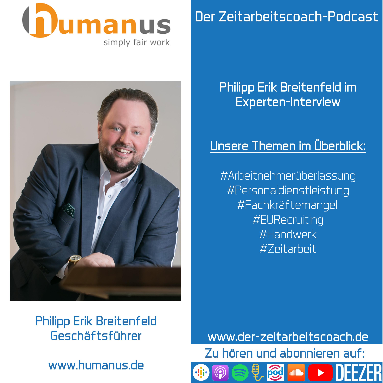 Philipp Erik Breitenfeld im Experten-Interview | Geschäftsführer der Humanus Personalservice GmbH | Der Zeitarbeitscoach-Podcast