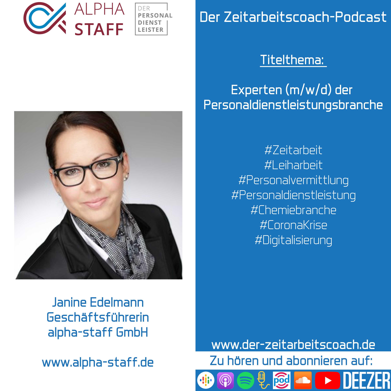Janine Edelmann im Podcast-Interview | Geschäftsführerin der alpha-staff GmbH | Der Zeitarbeitscoach-Podcast