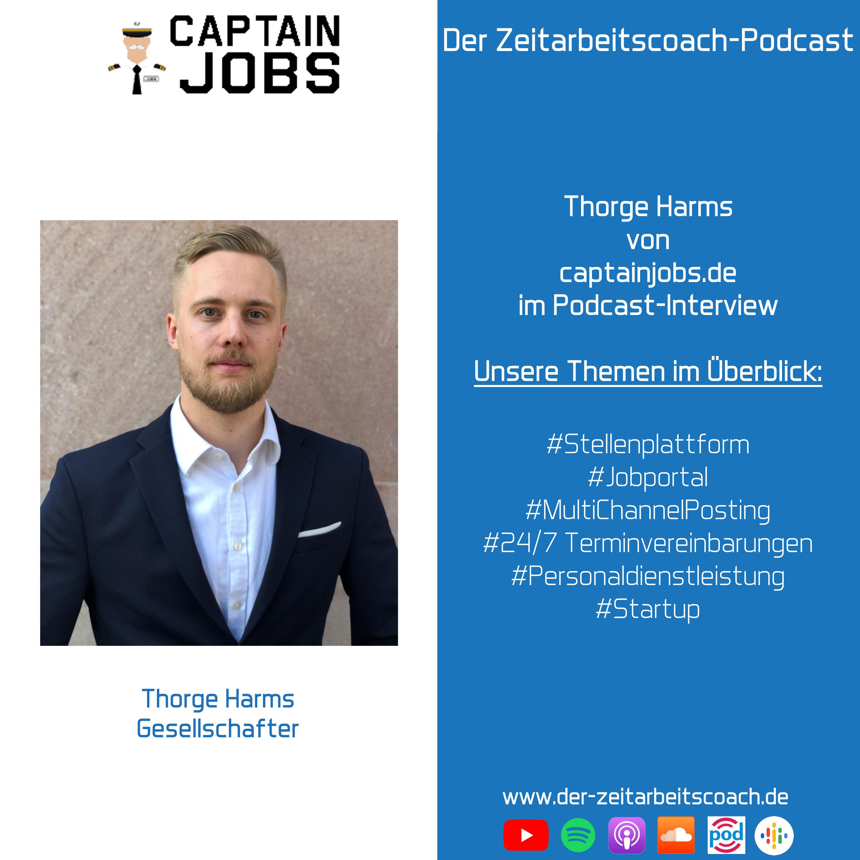 Thorge Harms im Interview | Mitgründer von captainjobs.de | Der Zeitarbeitscoach-Podcast