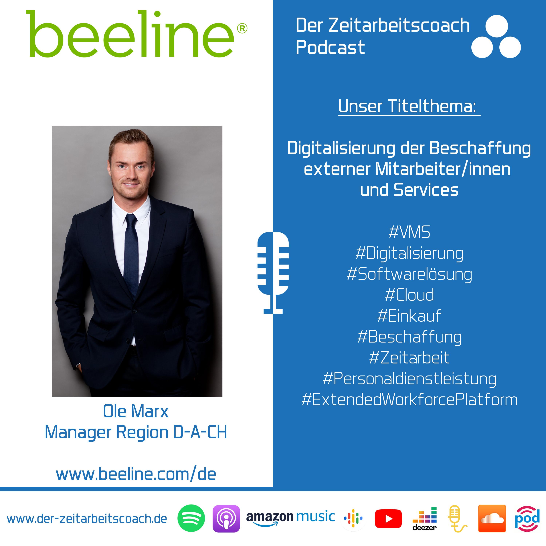 Digitalisierung der Beschaffung externer Mitarbeiter/innen und Services | Ole Marx von Beeline im Zeitarbeitscoach Podcast-Interview