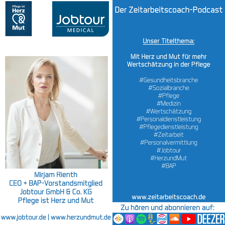 Mirjam Rienth im Interview | BAP-Vorstandsmitglied + CEO der Jobtour GmbH & Co. KG | Der Zeitarbeitscoach-Podcast