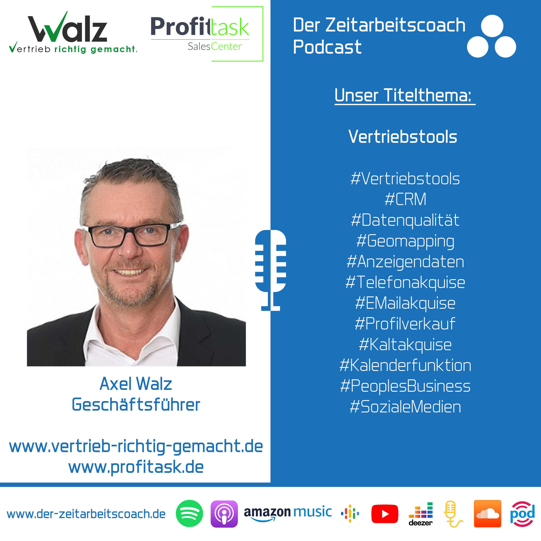Vertriebstools | Axel Walz im Zeitarbeitscoach Podcast-Interview