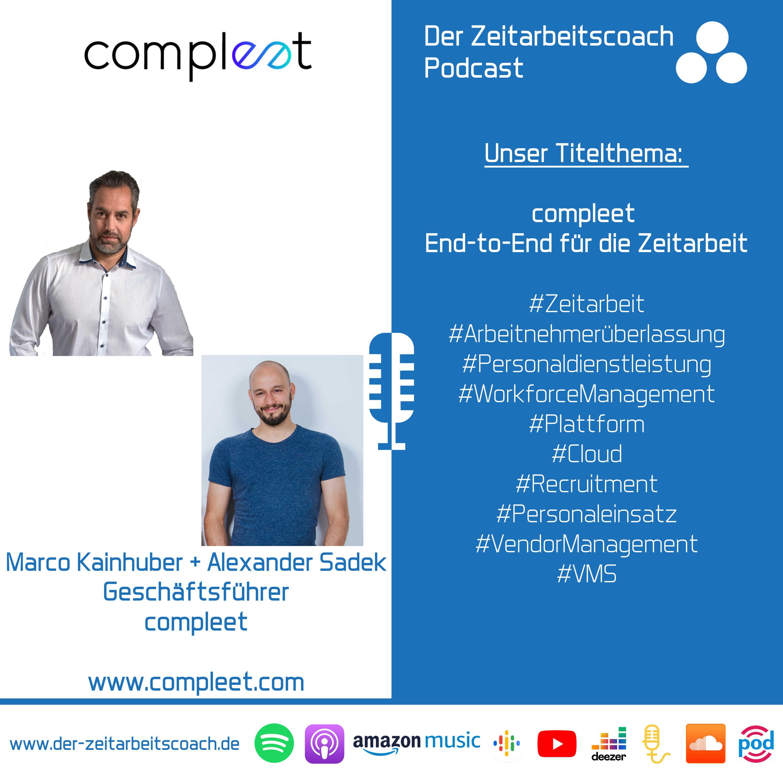 compleet End-to-End für die Zeitarbeit | Marco Kainhuber und Alexander Sadek im Zeitarbeitscoach Podcast-Interview