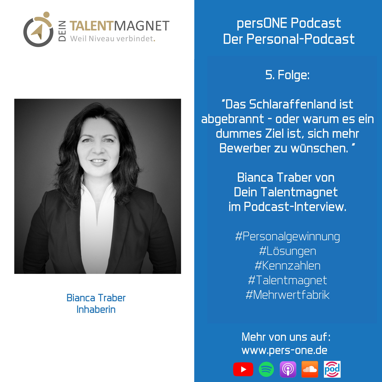 Interview mit Bianca Traber von Dein Talentmagnet | persONE Podcast Der Personal-Podcast