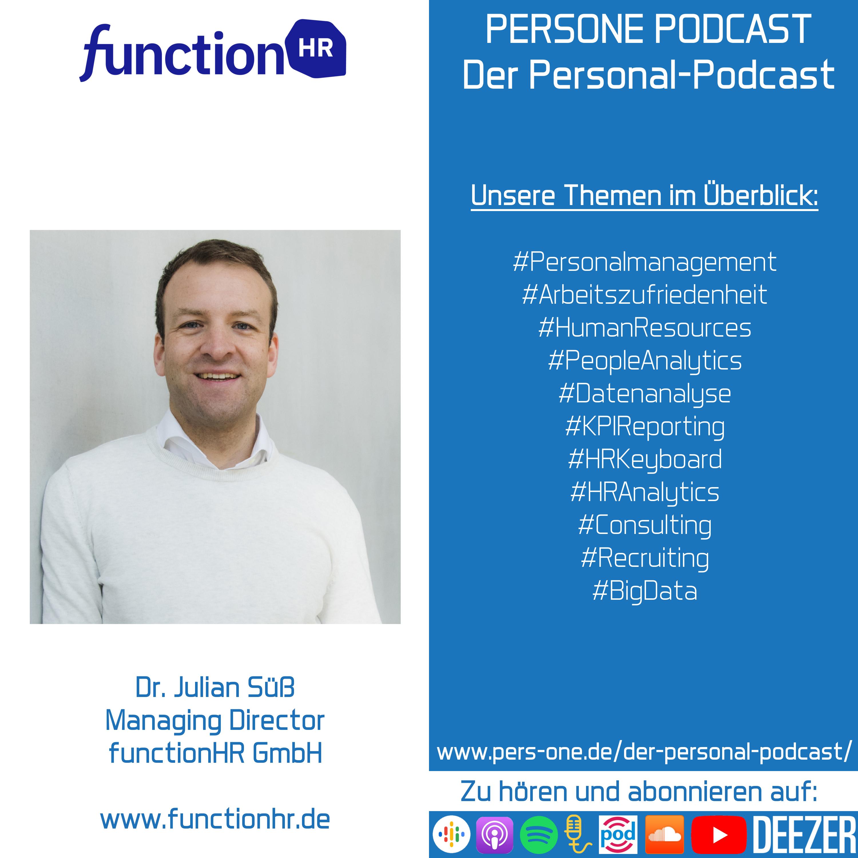 Dr. Julian Süß im Podcast-Interview   Managing Director der functionHR GmbH   PERSONE PODCAST – Der Personal-Podcast