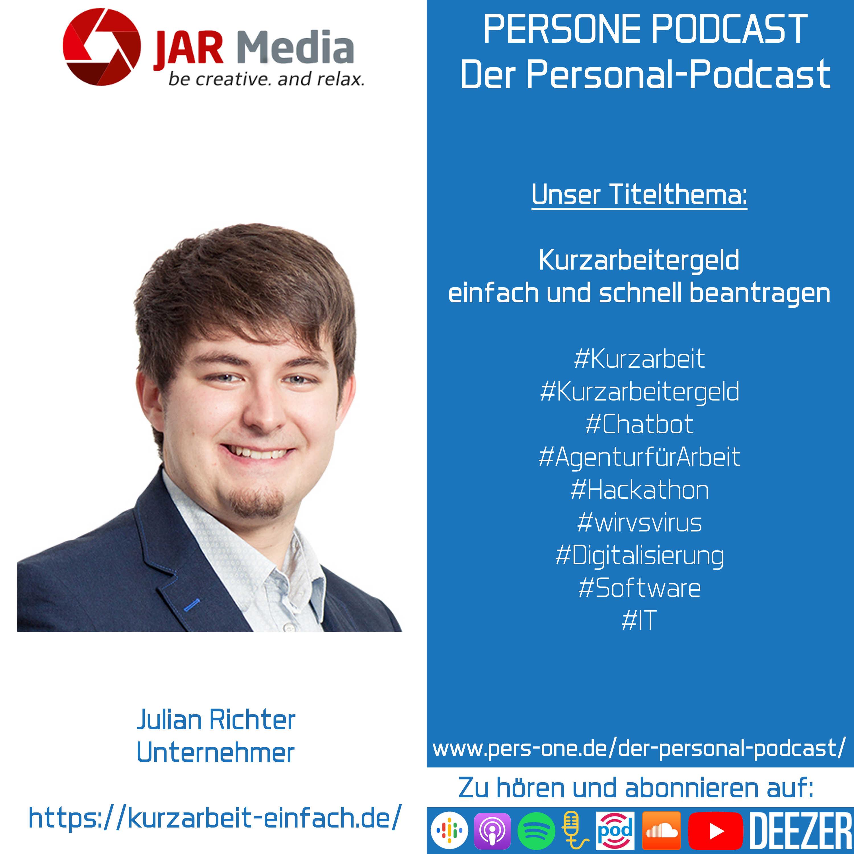 Kurzarbeitergeld einfach und schnell beantragen | Julian Richter im Podcast-Interview | PERSONE PODCAST – Der Personal-Podcast