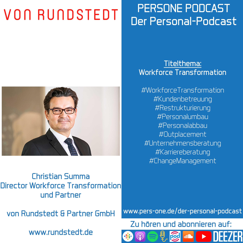 Christian Summa im Interview   Director Workforce Transformation und Partner bei von Rundstedt   PERSONE PODCAST – Der Personal-Podcast