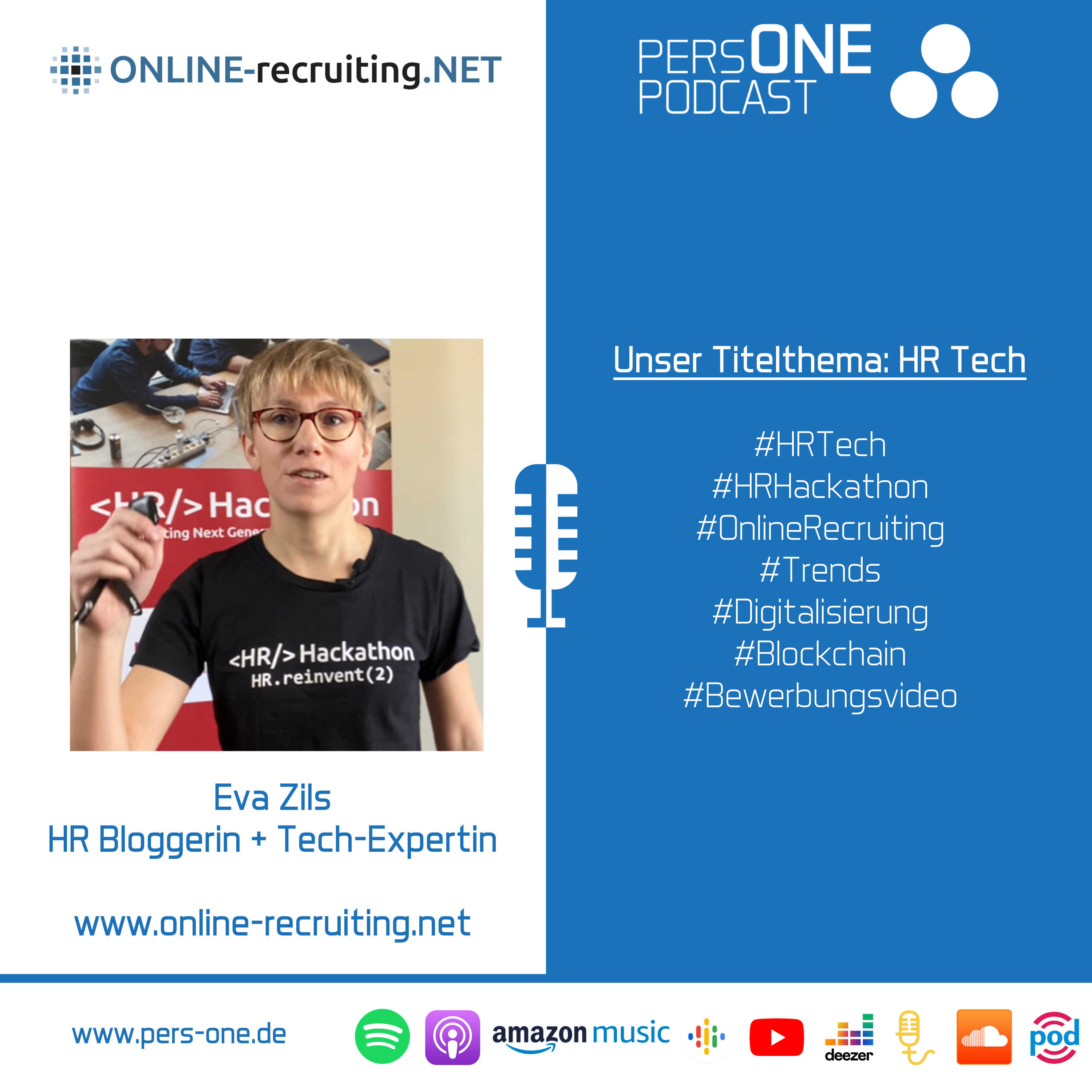HR Tech | Eva Zils im Podcast-Interview | PERSONE PODCAST – Der Personal-Podcast